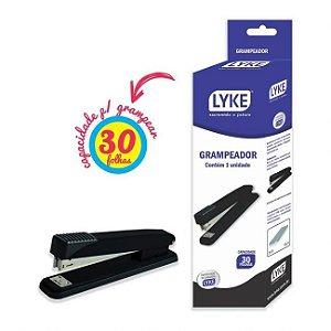 Grampeador para até 30 fls. 75g/m2 - 20 x 6,5 x 4cm - grampos 24/6 e 26/6 - LYKE