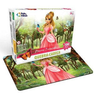 Quebra-cabeça Princesa Encantada - 100 peças - Pais&Filhos