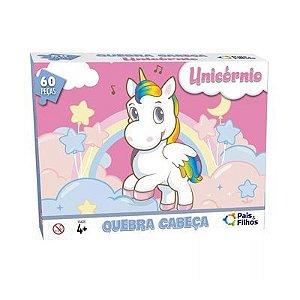 Quebra-cabeça Unicórnio - 60 peças - Pais&Filhos