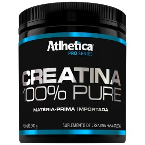 100% PURE CREATINA 300G - ATLHETICA NUTRITION