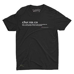 Camiseta Unibutec Churrasco Significado Preta