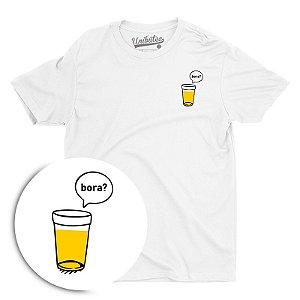 Camiseta Unibutec Basic Copo de Cerveja, Bora?