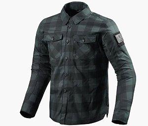 Jaqueta Revit Bison Black/Grey Impermeável Masculina