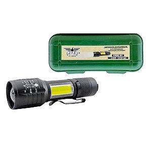 Lanterna Tática Clip Cinto Super Compacta Cob Led Q5 Zoom