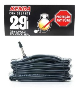 Câmara De Ar MTB 29 2.3 C/ Selante Anti-furo Bico Fino Kenda