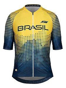 Camisa Ciclismo Asw Oficial Seleção Brasileira Cbc Masculina