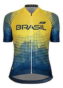 Camisa Ciclismo Asw Oficial Seleção Brasileira Cbc Feminina