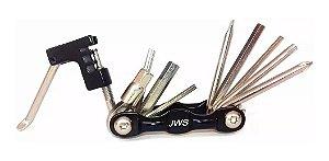 Canivete Ferramentas 12 Funções Chave Corrente Bike Mtb Jws