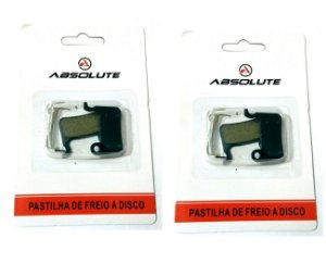 Kit 2 Pastilha Freio Disco Bike M975 M765 M601 M535 Abs-04s