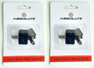 Kit 2 Pastilha Freio Disco Bike M315 M395 M446 M355 Abs-01a