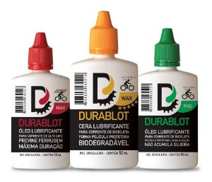 Kit 3 Óleo Lubrificante Bike Durablot 50ml Max, Wax, Pro