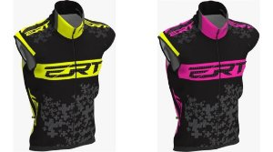 Colete Corta Vento Ert Team Rosa Ou Amarelo Fluor Bike