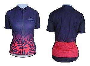 Camisa Ciclismo Mauro Ribeiro Nature Rosa Feminina