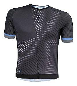 Camisa Ciclismo Mauro Ribeiro Max Azul Bike Mtb Speed