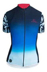 Camisa Ciclismo Mauro Ribeiro Caribe Azul Feminina Bike