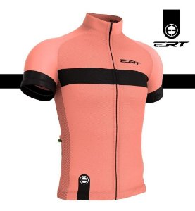 Camisa Ciclismo Ert New Tour Strip Salmon Bike Mtb Speed