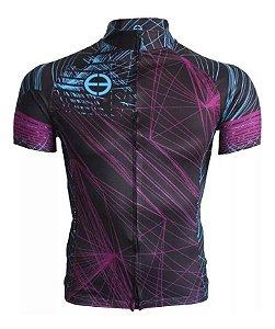 Camisa Ciclismo Ert New Tour Black Bike Mtb Speed