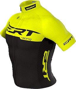 Camisa Ciclismo Ert Elite Racing Yellow Bike Slim Fit