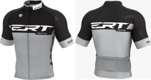 Camisa Ciclismo Ert Elite Racing Preto Cinza Bike Slim Fit