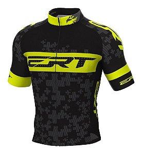 Camisa Ciclismo Ert Elite Amarelo Flúor Mtb Speed Slim Fit