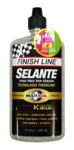 Líquido Selante Finish Line 240ml Dupont Kevlar 6mm Bike Mtb