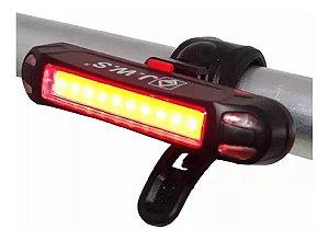Lanterna Farol Bike Recarregável Usb Led 5 Modos Jws Jyx 261