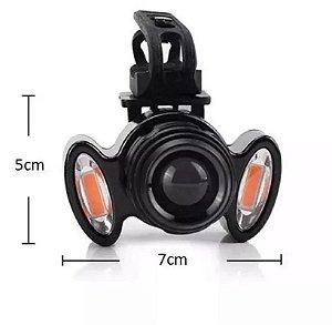 Farol Lanterna C/ Zoom Led Q5 Bike Recarregável Usb Jy8858