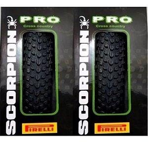 Par Pneu Bike Pirelli Scorpion Pro 29 X 2.2 Kevlar Mtb