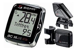 Velocimetro Bike Sigma Bc 16.12 Sem Fio Com Cadencia
