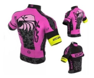 Camisa De Ciclismo Ert Elite Rosa Mtb Speed Slim Fit
