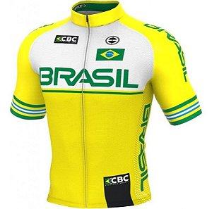 Camisa Ciclismo Ert Elite Seleção Brasileira Slim Fit