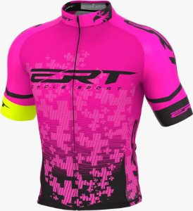Camisa Ciclismo Elite Ert Team Rosa Slim Fit