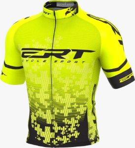 Camisa Ciclismo Elite Ert Team Amarela Slim Fit