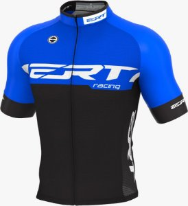 Camisa Ciclismo Ert Elite Racing Azul Mod Novo Bike Slim Fit