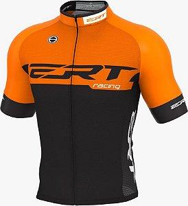Camisa Ciclismo Ert Elite Racing Laranja Mod Novo Slim Fit