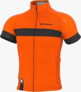 Camisa Ciclismo Ert Nova Tour Strip Orange Bike Mtb Speed
