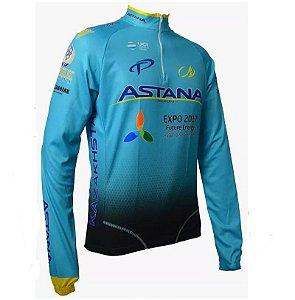 Camisa Ciclismo Manga Longa Ert Astana Bike MTB Speed