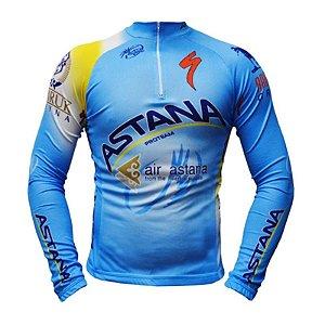 Camisa Ciclismo Manga Longa Ert Astana Team Bike MTB Speed