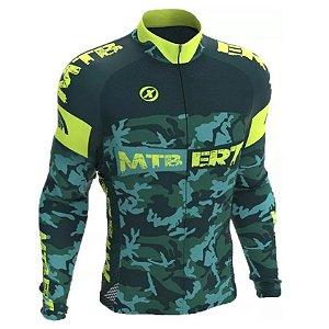 Camisa Ciclismo Manga Longa Ert Camuflada MTB Speed