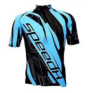 Camisa Bicicleta Ciclismo Ert Advanced Speed Azul Bike