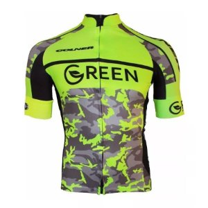 Camisa Bicicleta Ciclismo Ert Elite Green Slim Fit