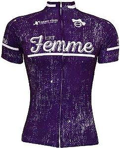 Camisa Ciclismo Ert Femme Roxa Advanced  Bike Mtb Speed