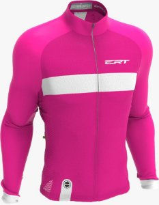 Camisa Manga Longa Ciclismo Ert Nova Tour Strip Pink