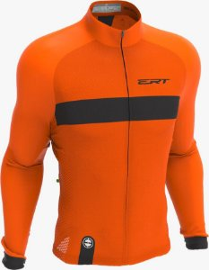 Camisa Manga Longa Ciclismo Ert Nova Tour Strip Orange