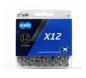 Corrente Kmc X12 Silver Prata 126 Elos Sram Eagle Xtr 12v