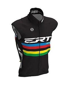 Colete Corta Vento Bike Ert Campeão Mundial Preto Ciclismo