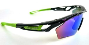 Óculos Ciclismo Dvorak One Verde 3 Lentes Padrão Rudy