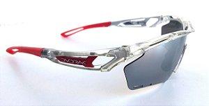 Óculos Ciclismo Dvorak One Cristal Vermelho 3 Lentes