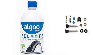 Selante Algoo 500ml P/ Pneu Tubeless Anti-furo + Par Bico
