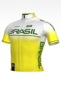 Camisa Ciclismo Ert New Elite Brasil Bike Slim Fit